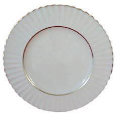 LENOX Citation Gold 6.25 inch Bread & Butter Plate, Temple Collection, Ribbed Rim. Made in USA.
