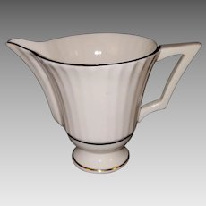 LENOX Citation Gold Creamer, Temple Collection, Ribbed Rim. Made in USA.