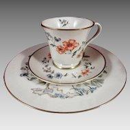 Gorham Fine China Trio - Cup, Saucer, Plate