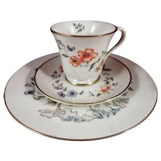 Gorham Fine China Trio - Cup, Saucer, Plate