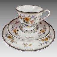 Mikasa China Chippendale 190 Trio - Cup, Saucer, Plate