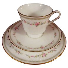 Mikasa China Millbrooke 103 Trio - Cup, Saucer, Plate