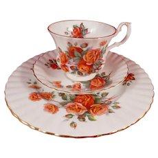 Royal Albert Centennial Rose Trio - Cup, Saucer, Plate
