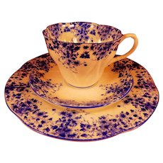 Royal Albert Dainty Blue Trio - Cup, Saucer, Plate