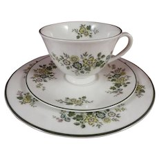 Royal Doulton Fine Bone China Campagna Trio - Cup, Saucer, Plate