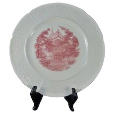 Wedgwood Wellesley College Chapel Plate