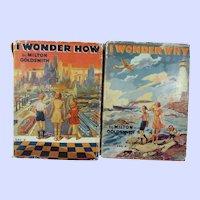 I Wonder How and I Wonder Why Books by Milton Goldsmith c. 1939