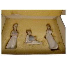 Lladro Box Set 3 Christmas Ornaments 1992