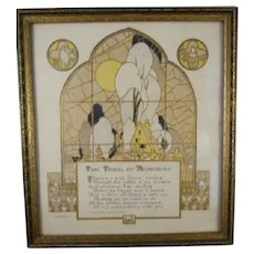Framed Buzza Print c.1926 'The Trail of Memories'