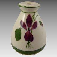 Torquay Pottery Devon Violets Scent Bottle