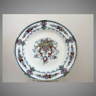 """Staffordshire Cauldon England 10.25"""" Plate c. 1905 Great Colors and Design"""