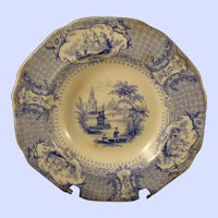 "Rimmed 7""  Bowl Alcock Staffordshire c. 1840s"