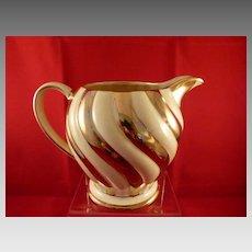 "Sadler England Pitcher Cream and Gold Colors 5.5"" x 7"""