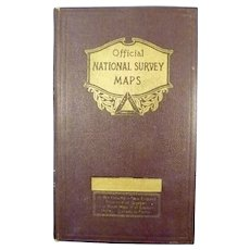 Official National Survey Co. Maps of New England c. 1925