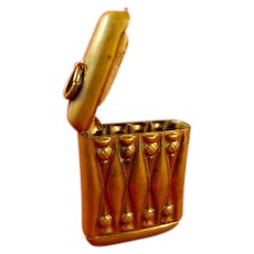 Vintage Match Holder Vesta Case