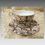 Royal Standard Peachtree Chintz Cup and Saucer Made in England Fine Bone China