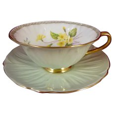 Shelley China Oleander Primrose Cup and Saucer #13534