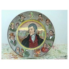 "Royal Doulton Robert Burns  10"" Plate"