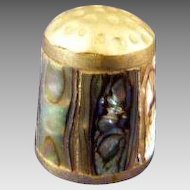Abalone and Mexico Silver Thimble