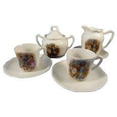 Partial German Children's China Tea Set c.1910