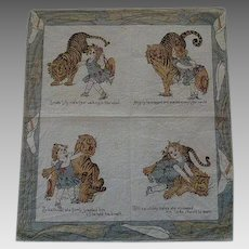 Vintage Child's Hanky dated 1907 Lilly and the Tiger