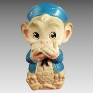 1961 Speak No Evil Monkey Squeeze Toy Edward Mobley Co.
