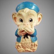 1961 Speak No Evil Monkey Squeeze Toy Edward Mobley Co.