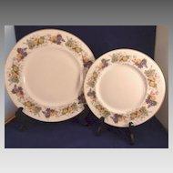 Royal Doulton Plates Ravenna Pattern H4977 Fruit Design