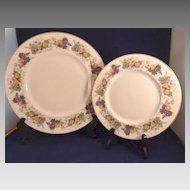Royal Doulton Plates Ravenna Pattern H4977 Fruit Design