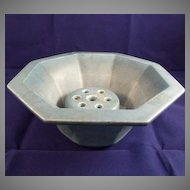 Rookwood Pottery Blue Centerpiece Bowl and Flower Frog