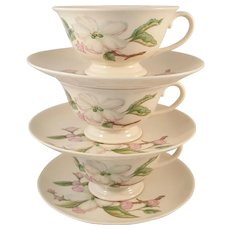 Franciscan Fine China Chelan Pattern 2 Cups and Saucers Made in California