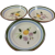 3 STANGL Pottery Fruit and Flowers Pattern 5.5 inch Bowls