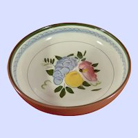 "STANGL Pottery Fruit and Flowers Pattern 8 "" Serving Bowl"