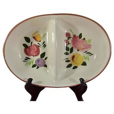 STANGL Pottery Fruit Pattern Divided Serving Dish