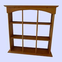 Pine Hanging or Standing Cup and Saucer Display Shelf Unit