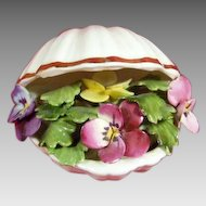 Royal Adderley Bone China Footed Floral Shell Figurine