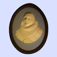 Wedgwood Tricolor Jasper Ware Wall Portrait Plaque of Peter Hein