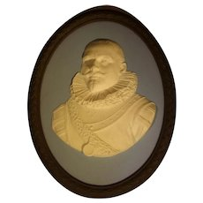 Wedgwood Tricolor Jasper Ware Wall Portrait Plaque of Peter Hein