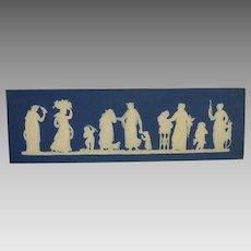 Wedgwood Jasper Ware Plaque Sacrifice Figures Dark Blue