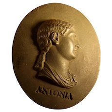 Wedgwood Black Portrait Medallion ANTONIA
