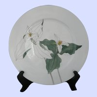 "Block Spal Portugal Trillium 10.5"" Dinner Plate c.1981 by Mary Lou Goertzen"
