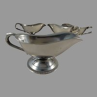 8 Stainless Gravy Sauce Boats SERCO 2 sizes