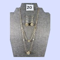Talana 18K Gold over Sterling Silver Necklace and Earrings