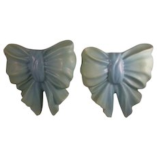 Van Briggle Pottery Pair of Bow Wall Pockets c.1950's