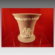 Wedgwood Lilac Jasperware Cherubs Vase 3.5 inches tall Flared Top