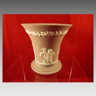 Wedgwood Lilac Jasperware Cherubs Vase 3.5 inches tall Flared Top