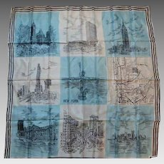Vintage New York City Scarf