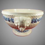 Vintage Wedgwood Queen's Ware Centerpiece Bowl With Rams Heads