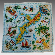 Vintage Okinawa Japan Scarf