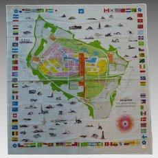 1970 Japan World Exposition Souvenir Scarf